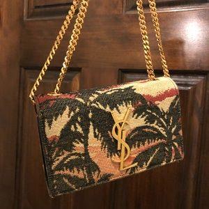 👜Saint Laurent Palm Tree Small YSL Chain Bag